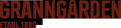Text GRANNGÅRDEN ETABL. 1880 i bourgogne font